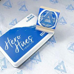 custom logo stamp on tissue paper