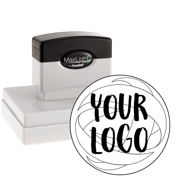 custom pre-inked logo stamp