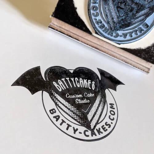 battycakes custom lgoo stamp
