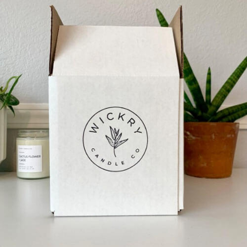 wickry custom logo box