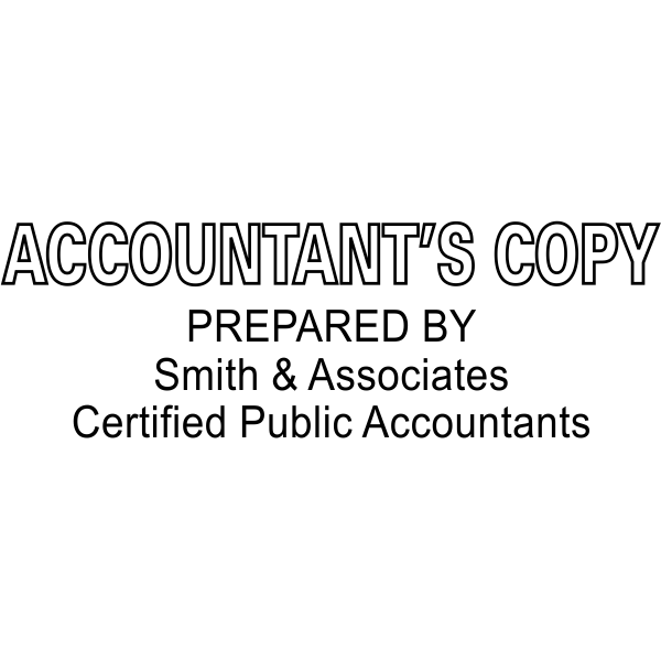 Accountant's Copy Stamp Outlined- Simply Stamps