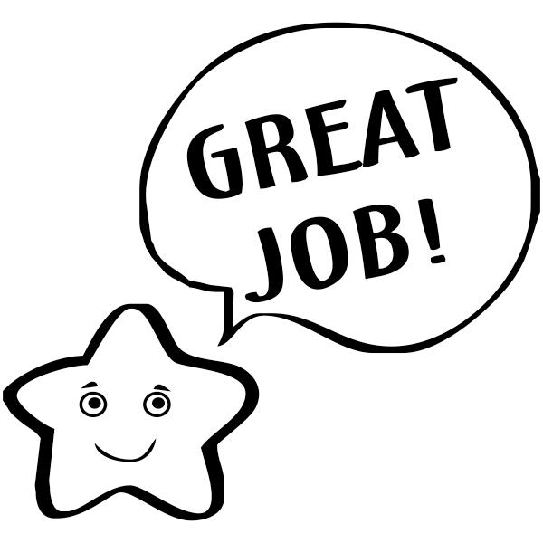great job smiley star teacher stamp