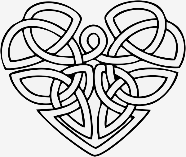 Celtic Heart Stamp Simply Stamps