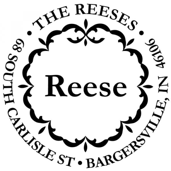 decor circle stamp