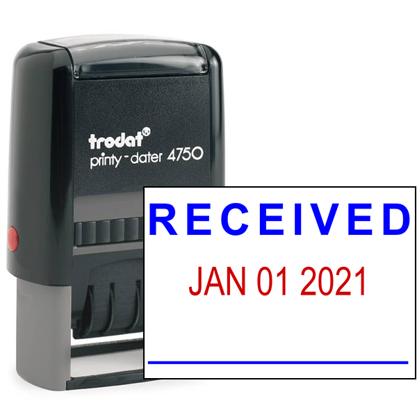 Customized Received Date Office Stamp Simply Stamps