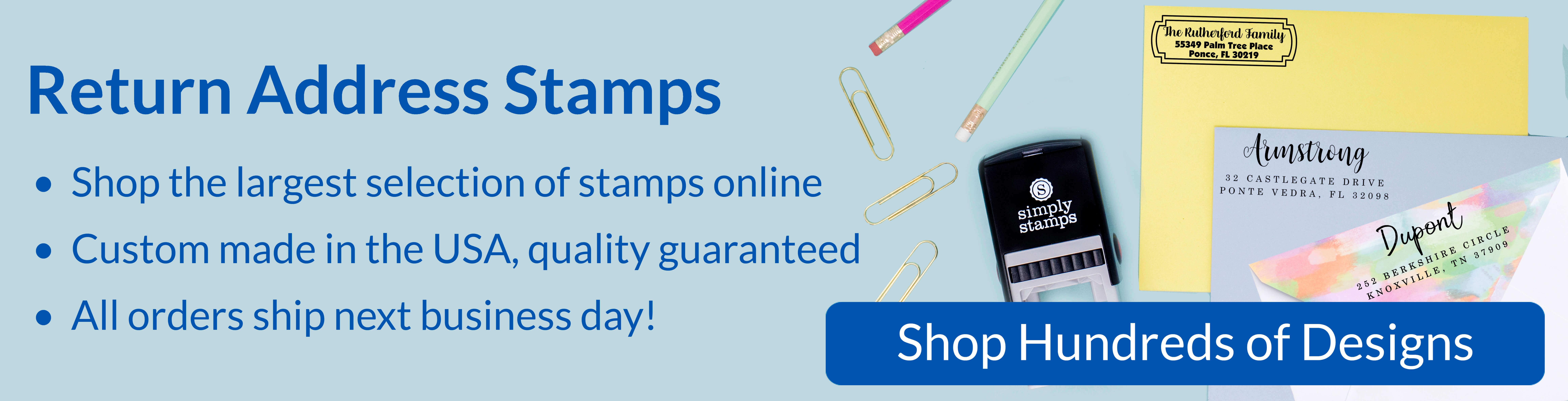 custom address stamps fast