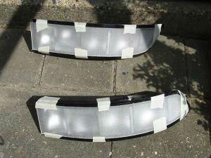 white taillights / witte achterlichten