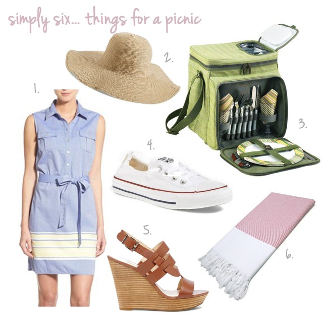 simply six... things for a picnic