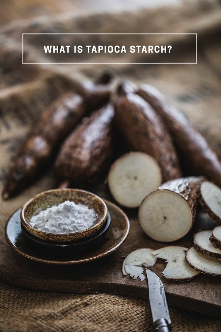 What is tapioca starch? Tapioca starch or tapioca flour is made from the starch of the root of a tuber vegetable called Cassava. The soft and powdery flour is often used in Thai cooking as a thickening agent for recipes like gravies, sauces, desserts, stir-fries, and soups. #tapiocaflour #cassava #cassacaflour