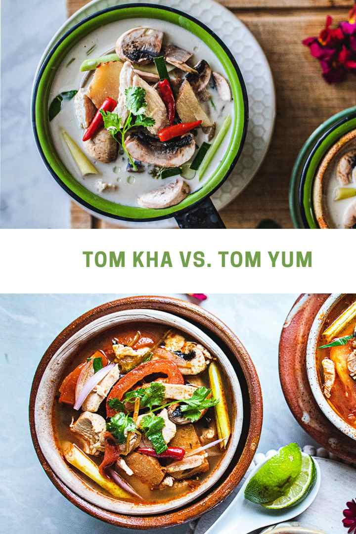 There's just a couple of minor differences between Tom Kha Gai and Tom Yum Soup. The addition of coconut milk to Tom Kha soup is the primary distinction, although you can also make Tom Yum Soup with coconut milk. Tom Yum is also more spicy from the addition of the Thai chili paste.#thaicoconutsoup #thaichickencoconutsoup #tomkhagai #thaicoconutchickensoup #easythaisoup