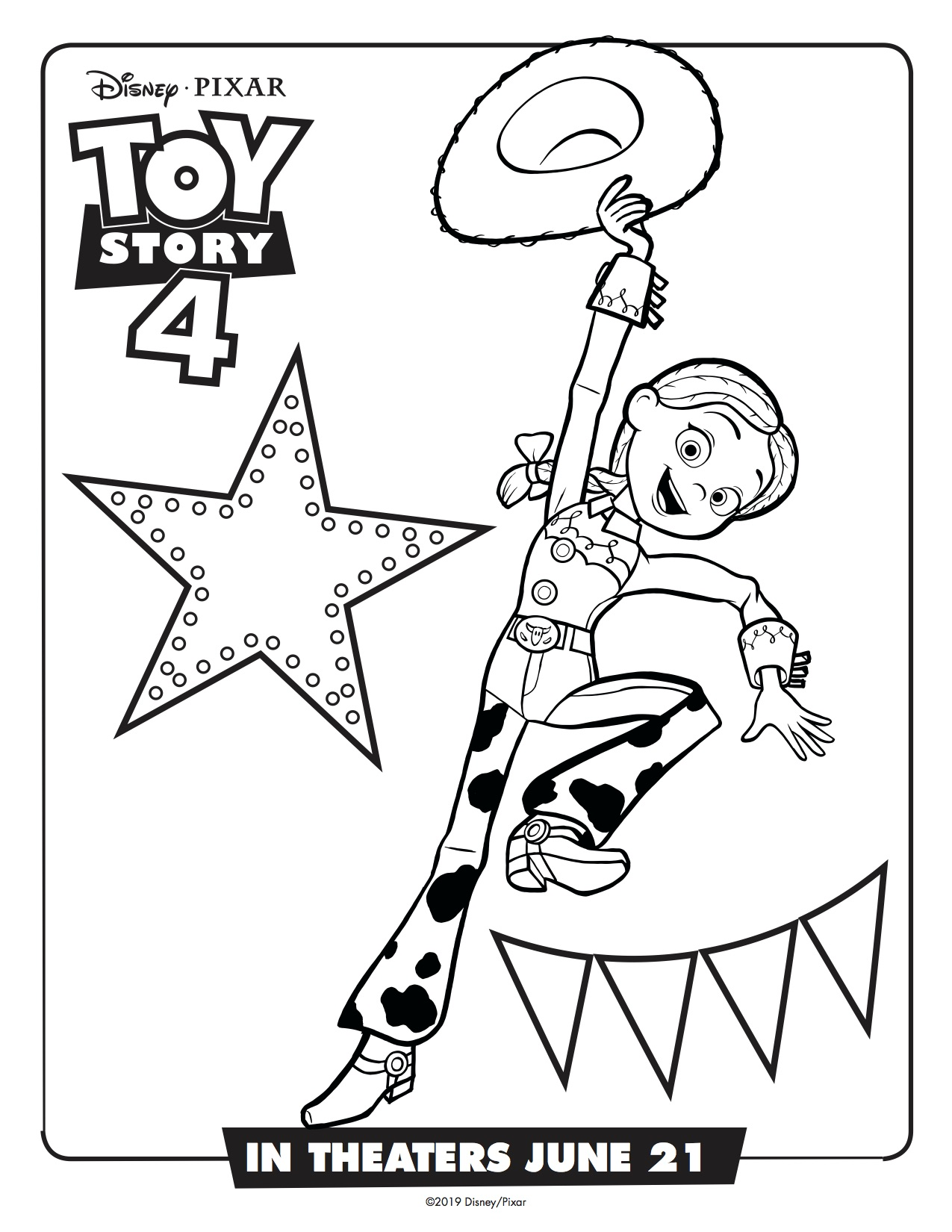 Toy-Story-4-Jessie-Printable-Coloring-Page Simply Sweet Days