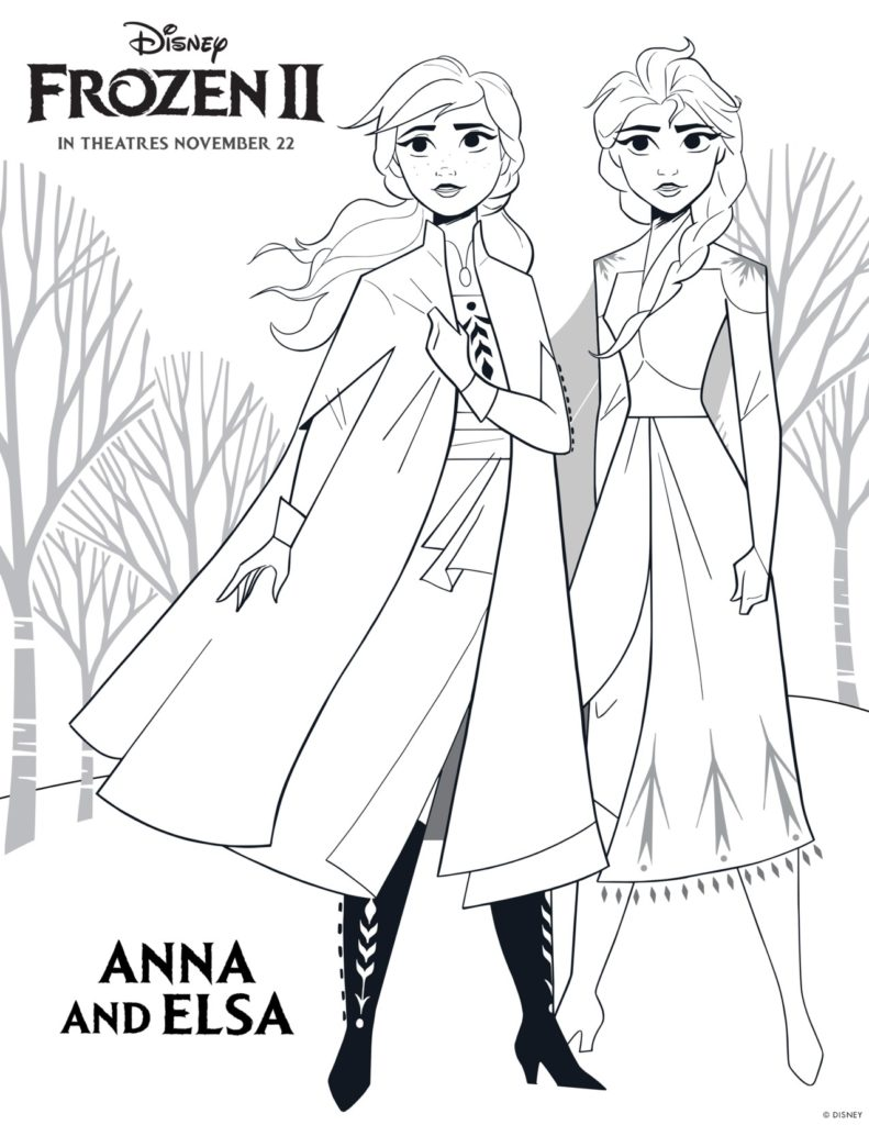 Frozen 2 Printable Coloring Pages and Activities Simply