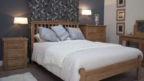 arched bedframe