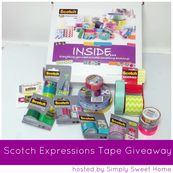 Scotch expressions tape project and giveaway simply for Home craft expressions decor