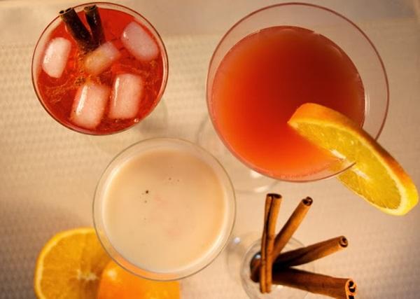 Campari Cocktails overhead
