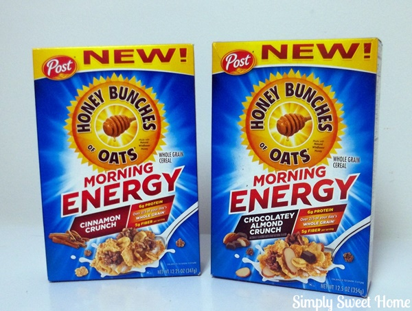 Say Good Morning With Honey Bunches Of Oats Morning Energy Simply
