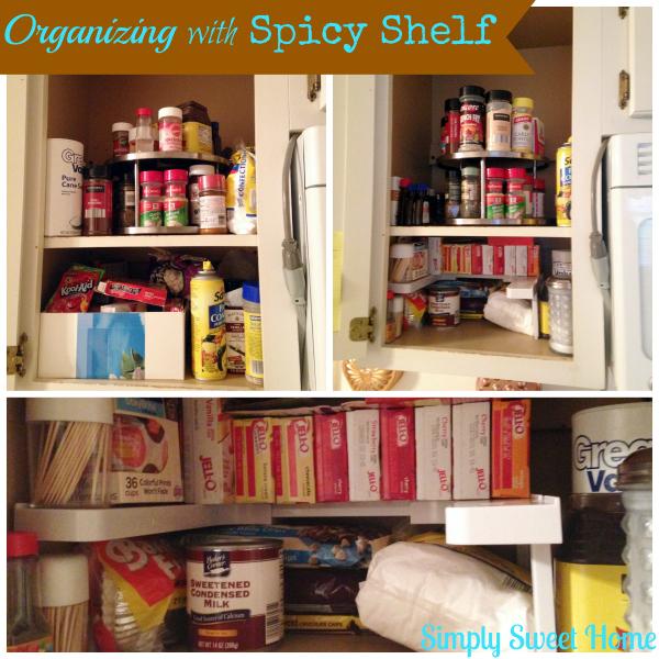 Organizing with Spicy Shelf