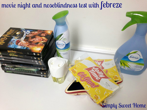 movie night with febreze