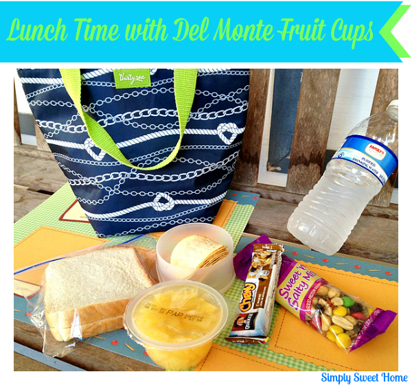 Lunch Time with Del Monte Fruit Cups