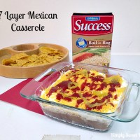 7-Layer Mexican Casserole with Success Rice