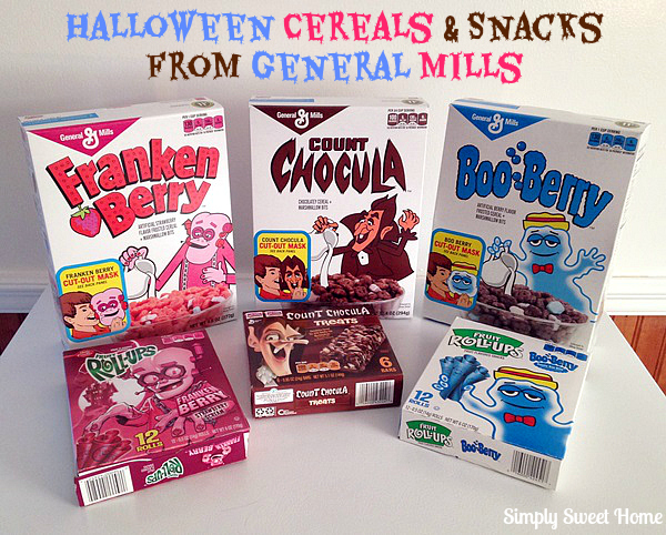 Halloween Cereals and Snacks