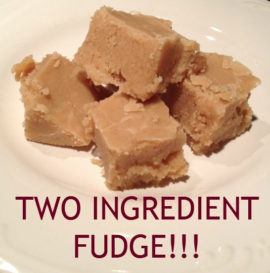 Two Ingredients Fudge