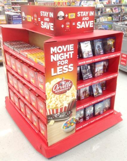 Walmart Movie Night Disply