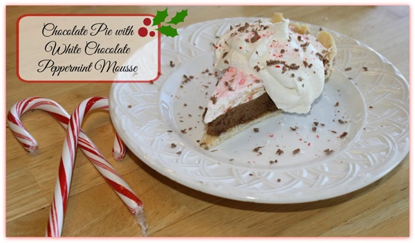 Chocolate Pie with Peppermint Mousse