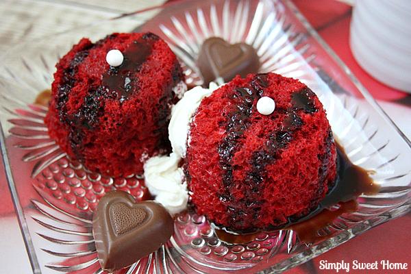 Red Velvet Mug Cakes