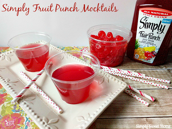Simply Fruit Punch Mocktails