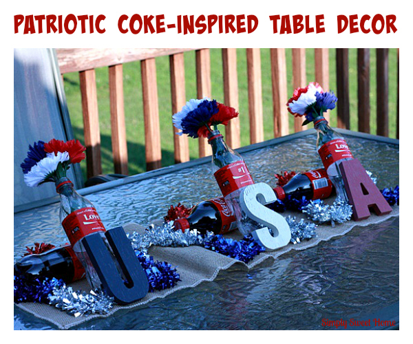 Patriotic Coke-Inspired Table Decor