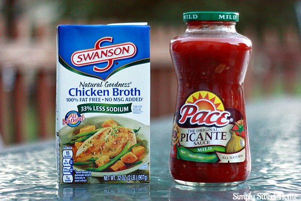Swanson Broth and Pace Picante Sauce