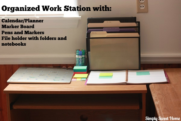 Organized Work Station