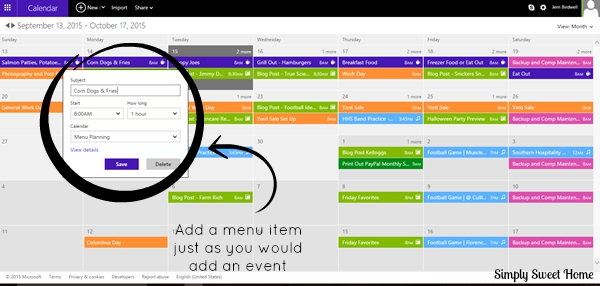 Adding Item to Calendar