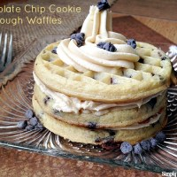 Chocolate Chip Cookie Dough Waffles
