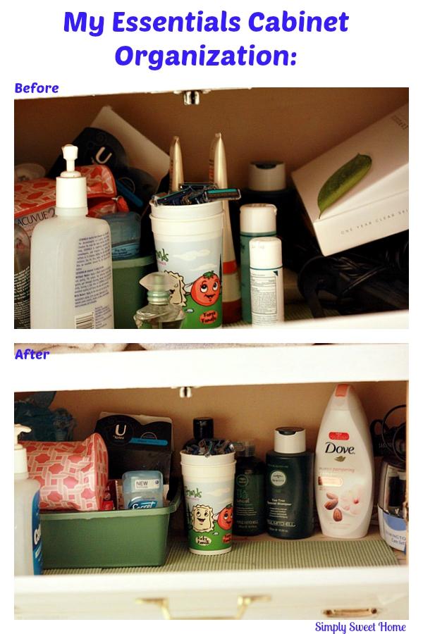 My Essentials Cabinet Organization
