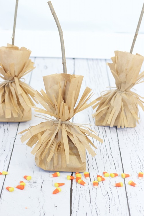 Witchs Broomsticks Treat Bags