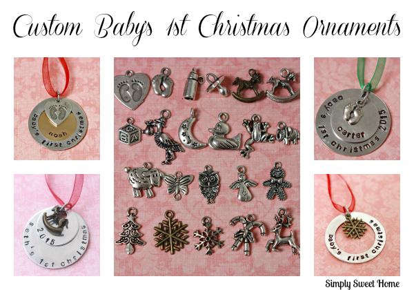 Custom Babys 1st Christmas Ornaments