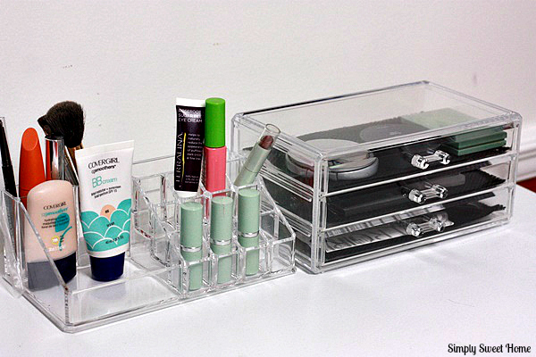 Makeup Organizer Side by Side