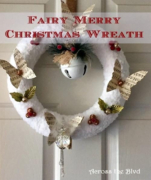 Fairy Merry Christmas Wreath