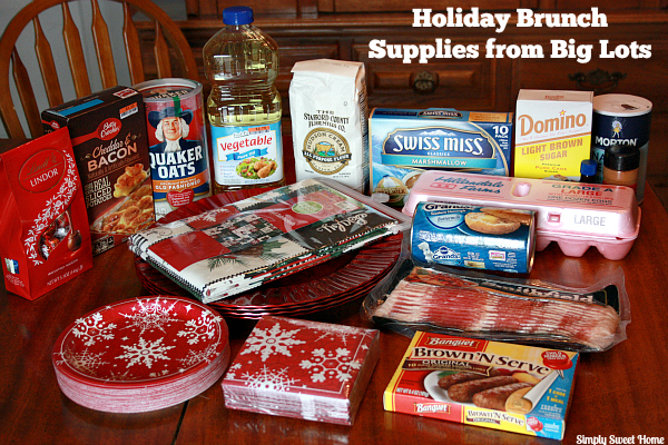 Holiday Brunch Supplies from Big Lots