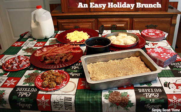 Holiday Brunch Table