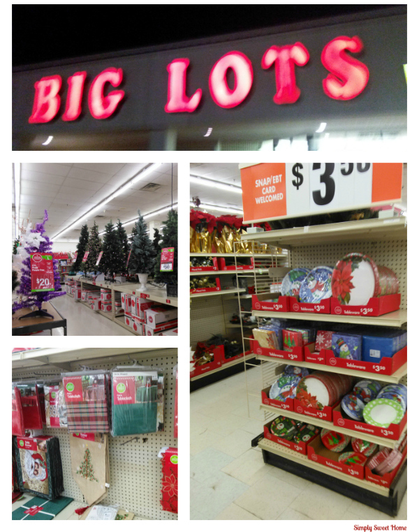 Holiday Shopping at Big Lots