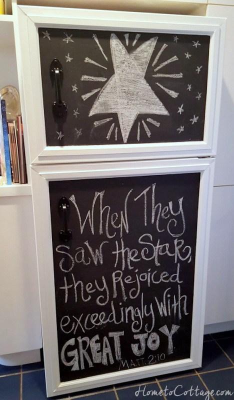 DIY Chalkboard Fridge Cover