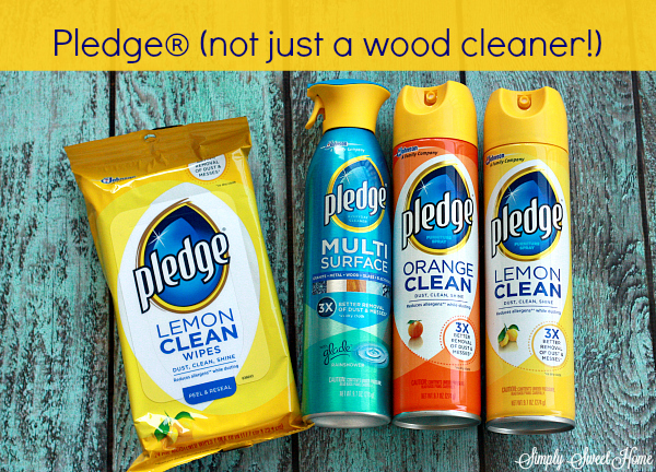 Pledge not just a wood cleaner