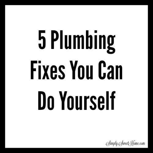 5 Plumbing Fixes You Can Do Yourself