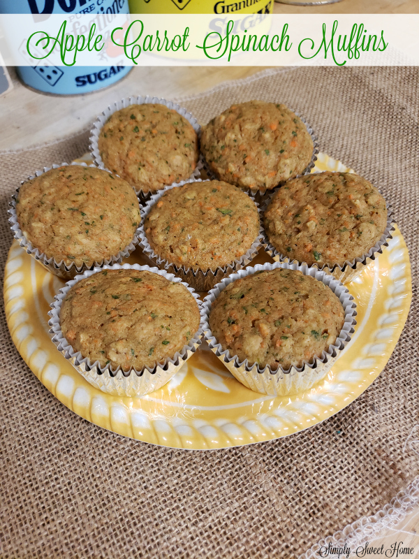 Apple Carrot Spinach Muffins