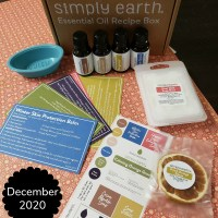 Simply Earth's Essential Oil Recipe Box for December 2020