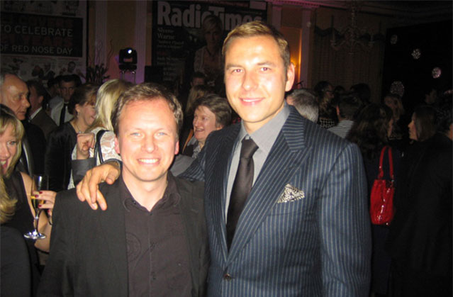 Band with David Walliams at Claridges