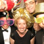 Simply Swing Band squeezed into a Photo Booth